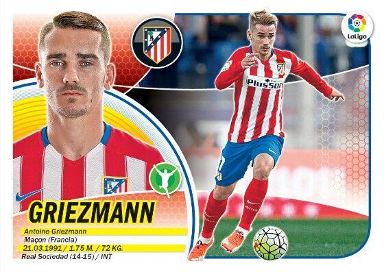 Griezmann - Atletico de Madrid - LIGA BBVA - 2016-2017 PANINI