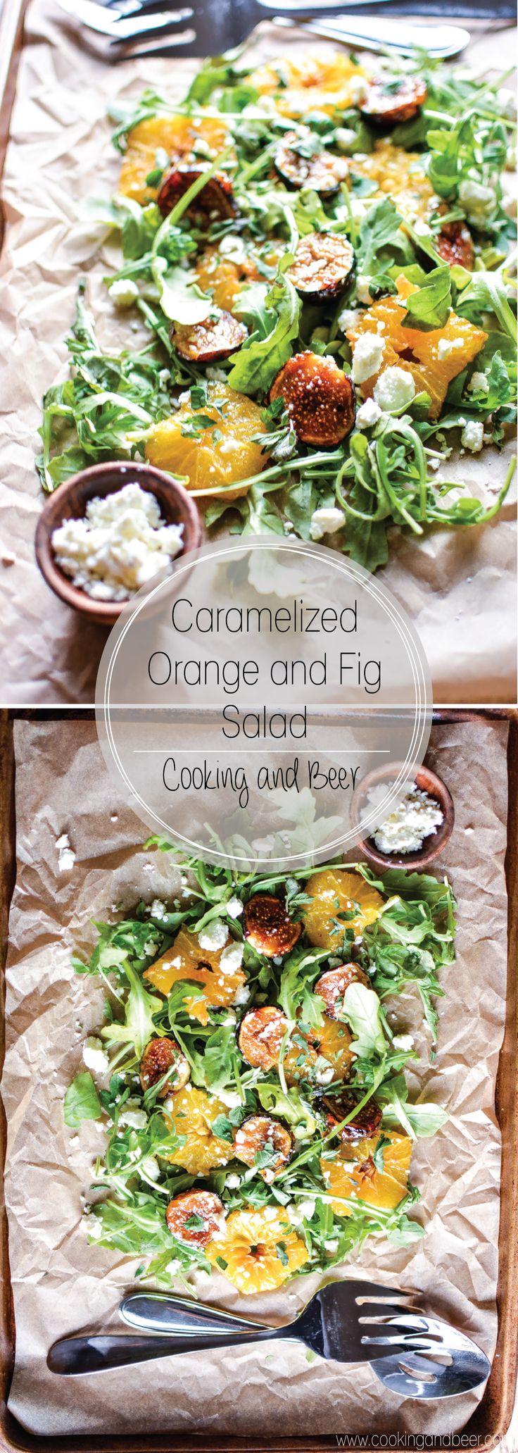 Caramelized Orange and Fig Salad: a light side dish or appetizer recipe!: