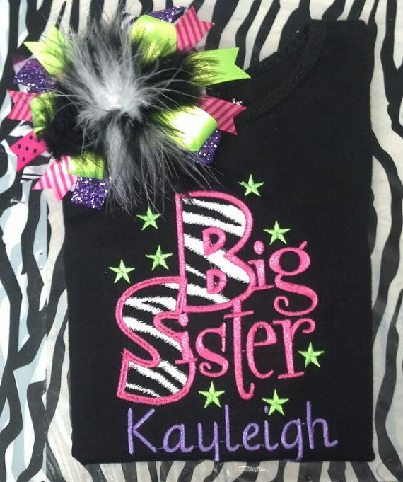 Personalized Big Sister Shirt by dazzlemegirl on Etsy