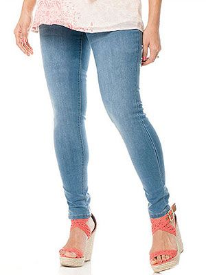 Best Maternity Jeans: Celebrity Pink Jeans Secret Fit Belly® Flap Pocket Skinny Leg Maternity Jeans (via Parents.com)