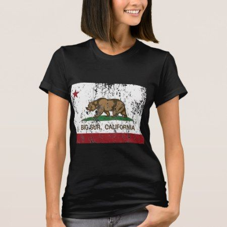 california flag big sur distressed T-Shirt - tap to personalize and get yours