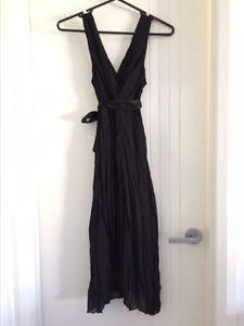 Jacqui E Black Dress Size 8 | eBay
