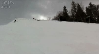 """This group of skiers performing a backflip at the same time: 