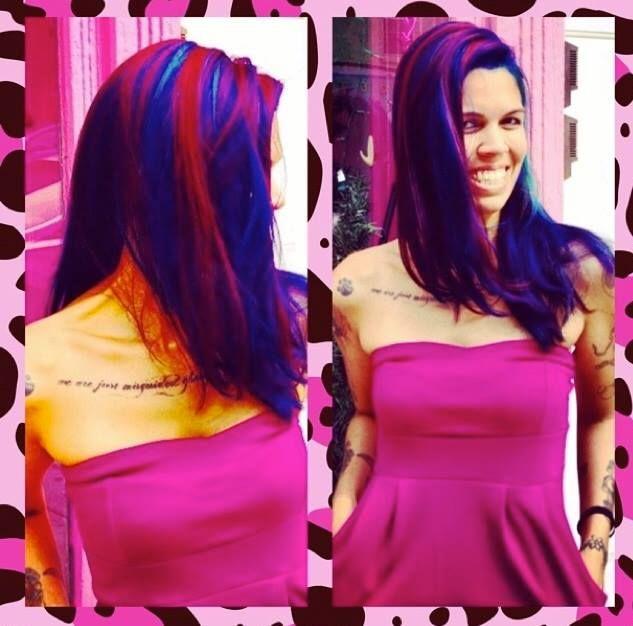 Rebel Rebel Organic Hair and Dreadlock Salon, dreadlock salon philadelphia, pravana vivids philadelphia, pink hair, blue hair, pravana vivids hair
