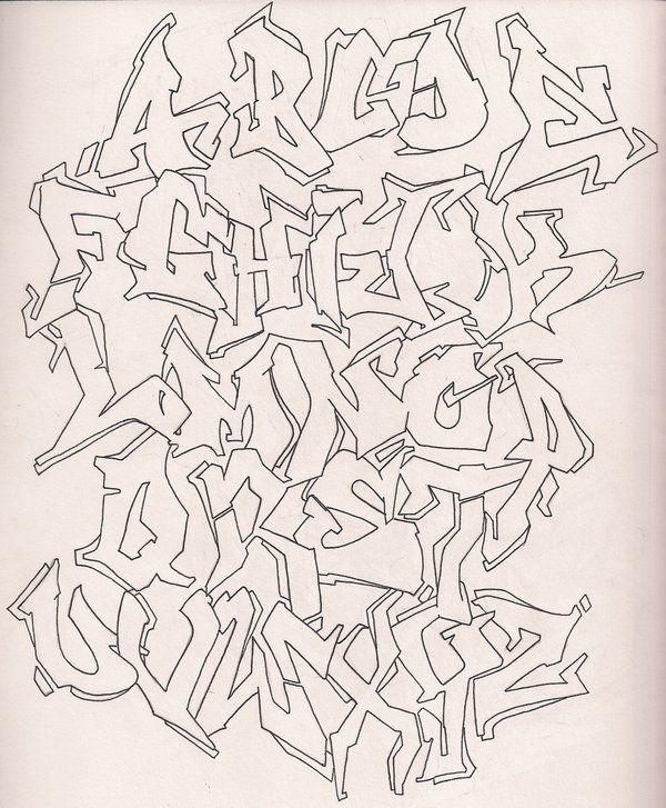 graffiti outline