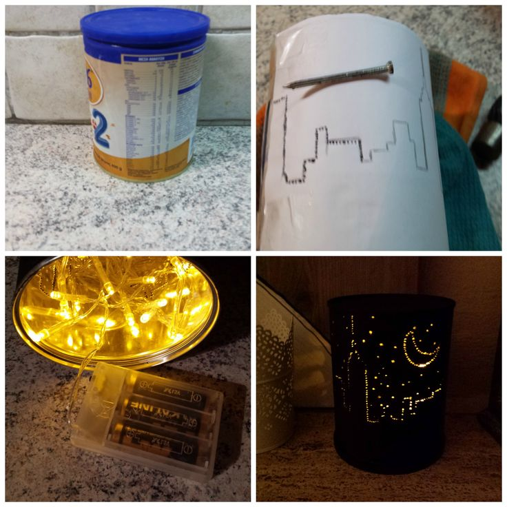 Easy and beautiful!! Turn a tin into a lantern!