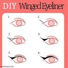 DIY Winged Eyeliner girly makeup make up diy easy crafts  diy crafts do it yourself easy diy eyeliner diy makeup diy tutorial