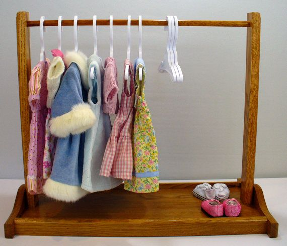 American girl clothes closet rack at https://www.etsy.com/listing/150193690/american-girl-doll-clothes-rack-large