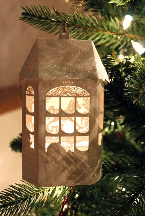 Beautiful little house Christmas ornament