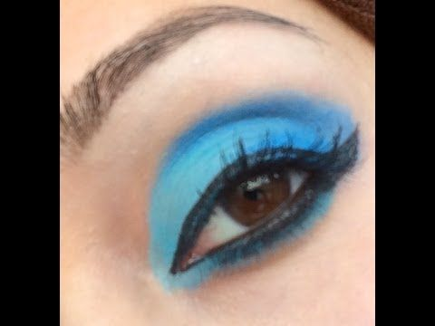 Electric eye make up! perfect for prom. Check out the tutorial