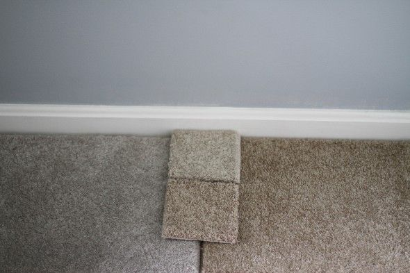 gray carpet. (color on left)