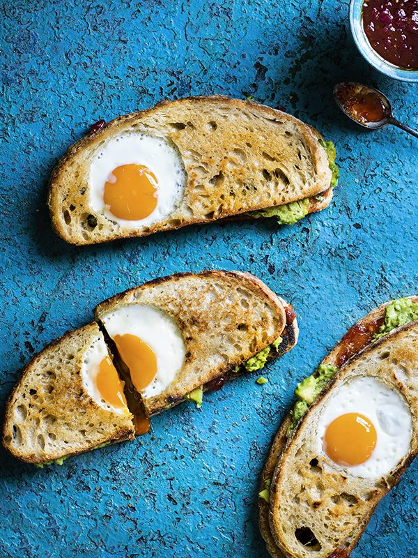 Egg-in-a-hole with avocado - If you like avocado toast you'll LOVE this egg-in-a-hole with avocado sandwich. It's the ultimate brunch recipe and looks impressive, too.