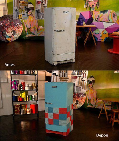 - Antes e Depois: A geladeira que virou armário.
