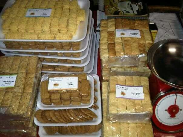 Buttermilk Rusks, Health Rusks, Coffee cookies, Custard cookies and Ginger cookies ready for delivery