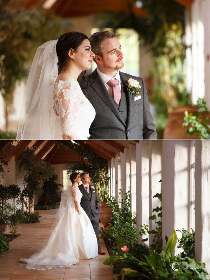 Groom & Bride in the orangery