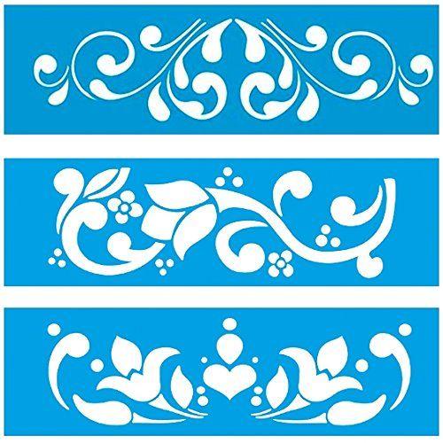 28cm x 8cm Pochoir (Jeu de 3) Réutilisable en Plastique Transparent Souple Trace Gabarit - Traçage Illustration Conception Murs Toile Tissu Meubles Décoration Aérographe Airbrush Litoarte http://www.amazon.fr/dp/B00PMEAXK6/ref=cm_sw_r_pi_dp_5sZqwb1HFZEBA