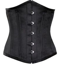Black Satin Spiral Boned Waist Training Underbust Corset Best Buy follow this link http://shopingayo.space