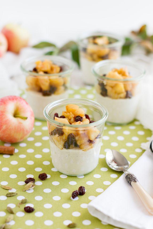 Gebackener Joghurt a la Apfelstrudel