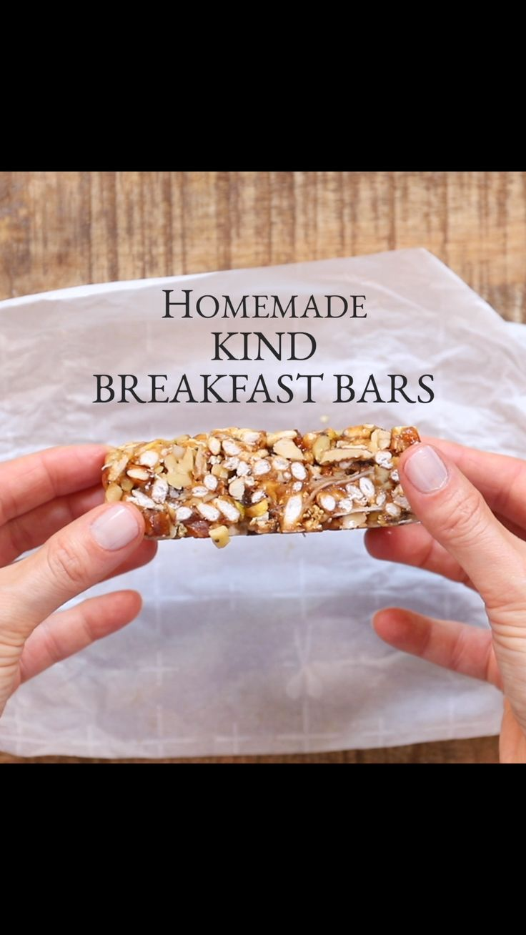 Homemade Kind Breakfast Bars