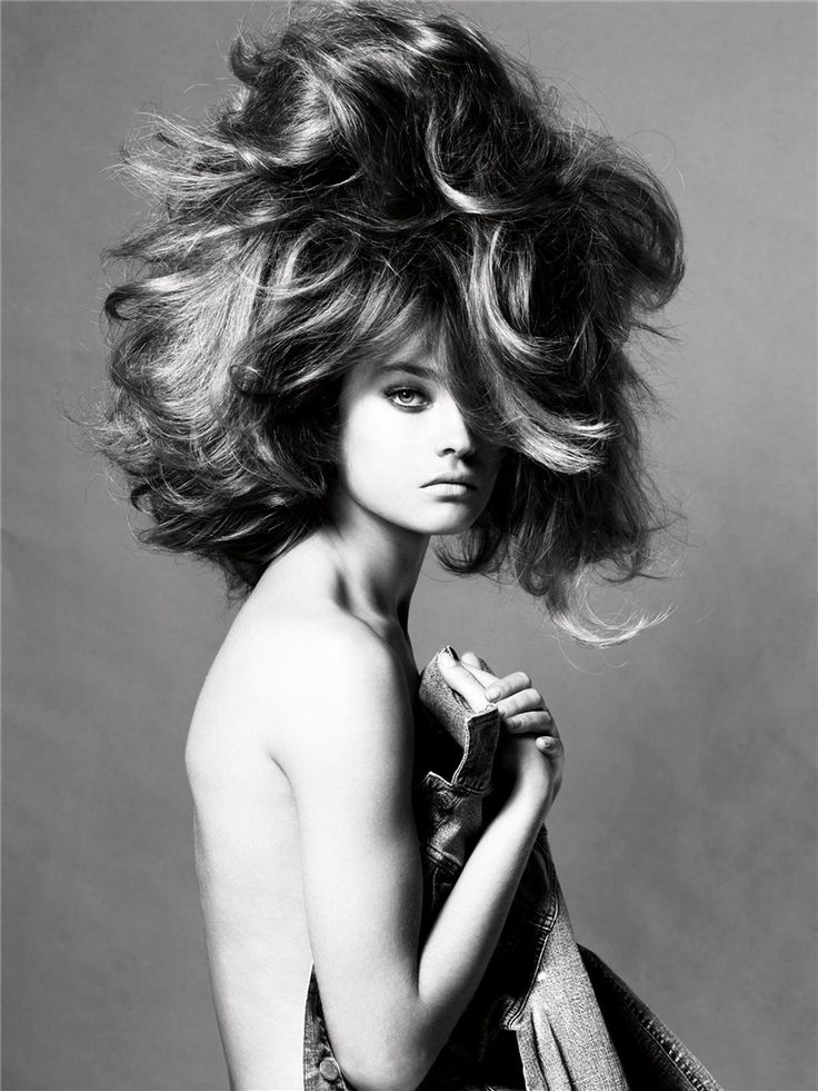 Amazing Hair Style / Photograph by Steven Meisel