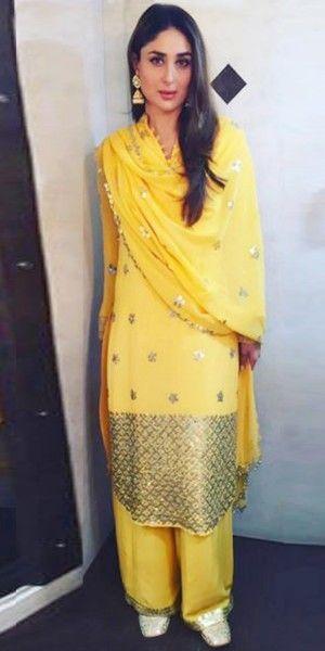 Graceful Yellow Cotton Salwar Suit With Dupatta.