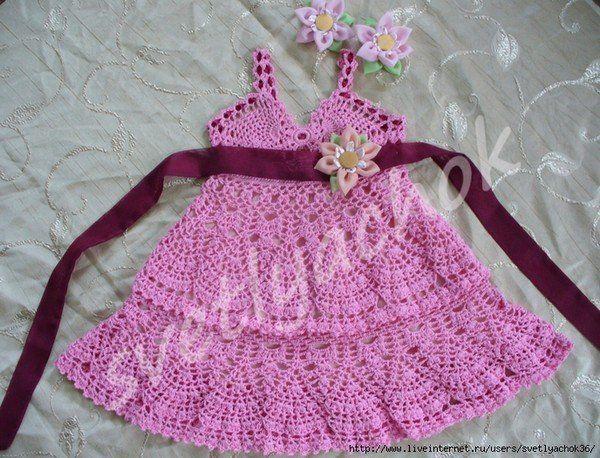 Robe pour fille de 2 ans et ses grilles gratuites ! - Modèles pour Bébé au Crochet