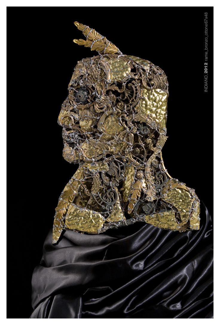 #American #indian - (2012) 67x48 - made with #brass #bronze #copper #art #metalart #sculpture #metalsculpture #sachem