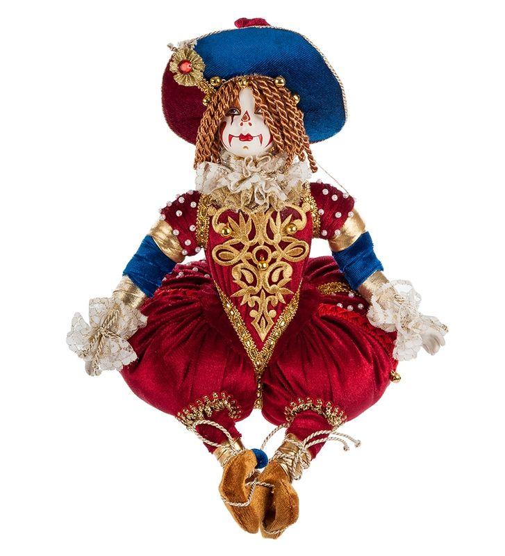 """Фарфоровая кукла сувенирная """"Клоун"""" RK-546 / Коллекционные куклы / Куклы / Каталог / R-Gifts – интернет магазин подарков и сувениров.  #doll #porcelainskin #porcelaine #russiandoll #russiandolls #gift #giftidea #handmade #кукла #куклаинтерьерная #кукларучнойработы #подарок #фарфор #фарфороваякукла"""