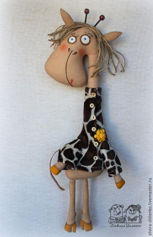 Купить Жирафа - коричневый, жираф, игрушка в подарок, настенная игрушка, коллекционные игрушки, африка