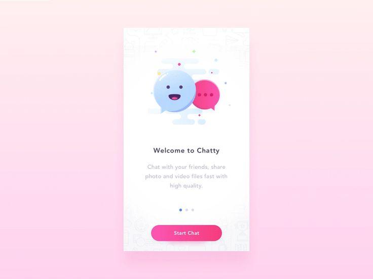 Chat UI - Welcome screen  by Vladyslav Tyzun #Design Popular #Dribbble #shots