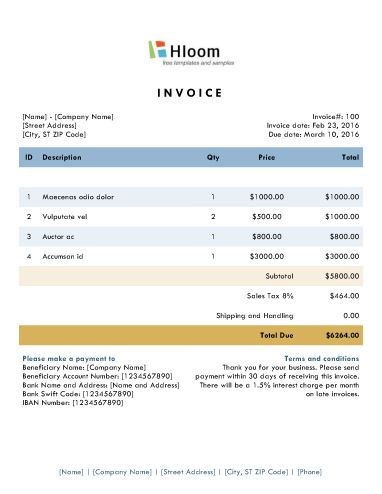 152 best Invoice Templates images on Pinterest Invoice template - how to make a invoice template in word