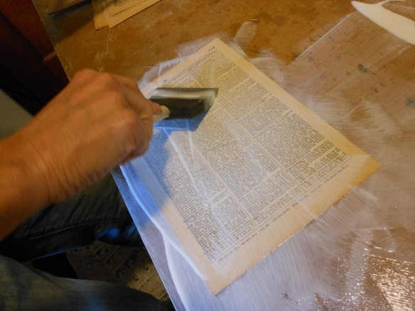 book pages or journal decoupage tutorial