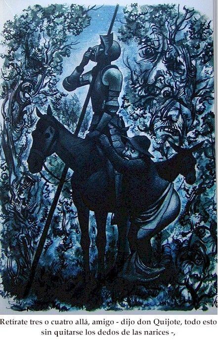 Ilustración de Quijote y de su fiel seguidor.