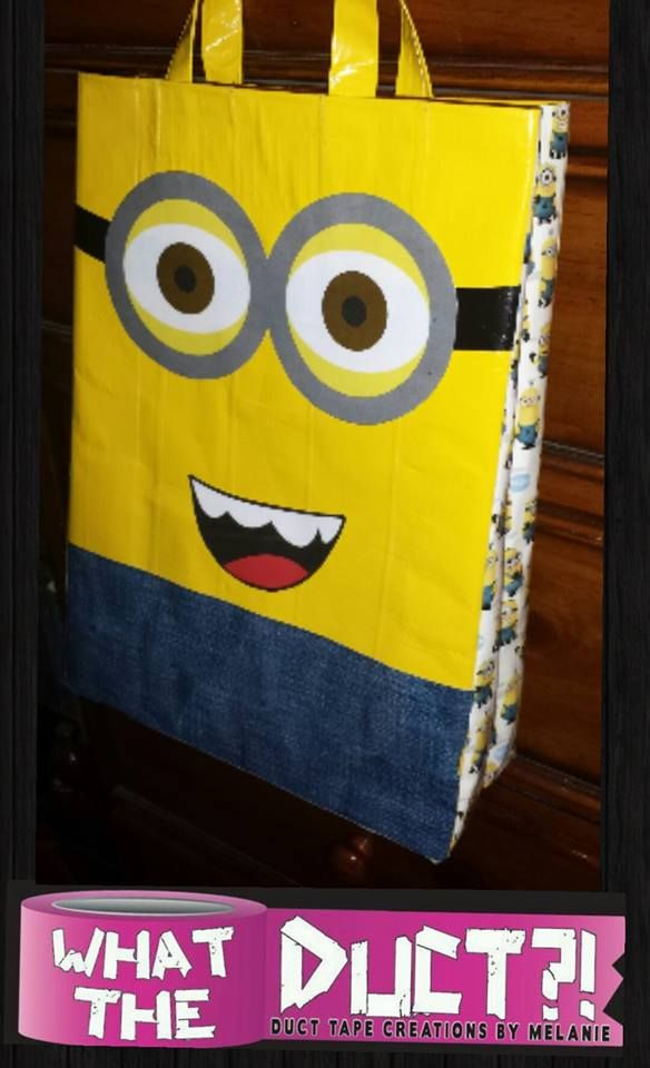 MINION TRICK OR TREAT DUCT TAPE  BAG  Like my page! www.facebook.com/whattheductbymelanie