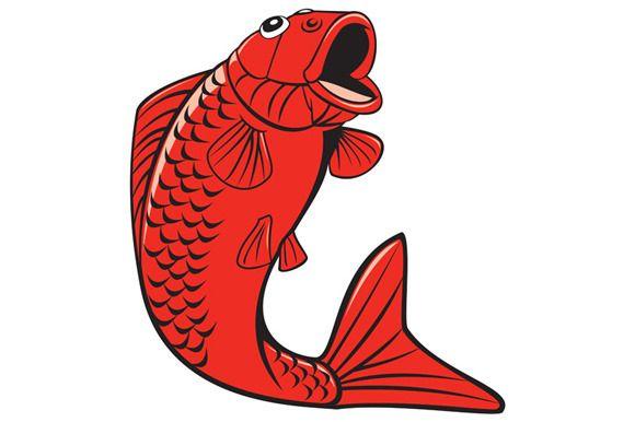 Koi Nishikigoi Carp Fish Jumping Car - Illustrations