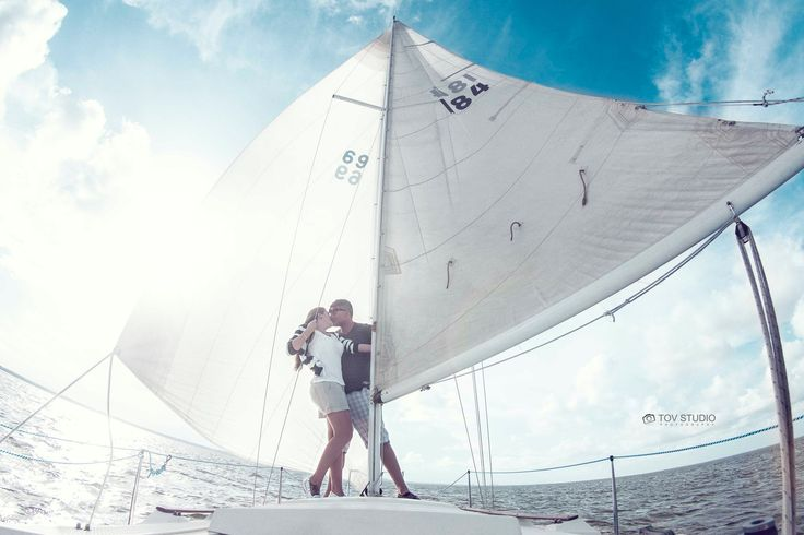 Couple on the Sail Boat