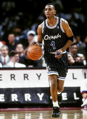 Penny Hardaway.  My favorite player was from Memphis, Tennessee and was an outstanding player for Memphis State. (Now The University of Memphis). Can't you tell I am from Tennessee.