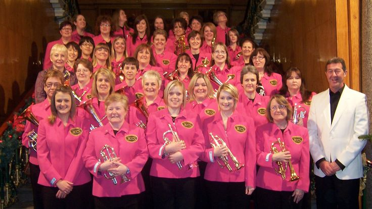 Boobs and Brass, which supports breast cancer research, win the BBC Music Day Brass Band Award.