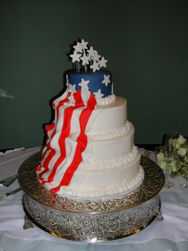 4th Of July Wedding Cake Just Pinterest And Cakes