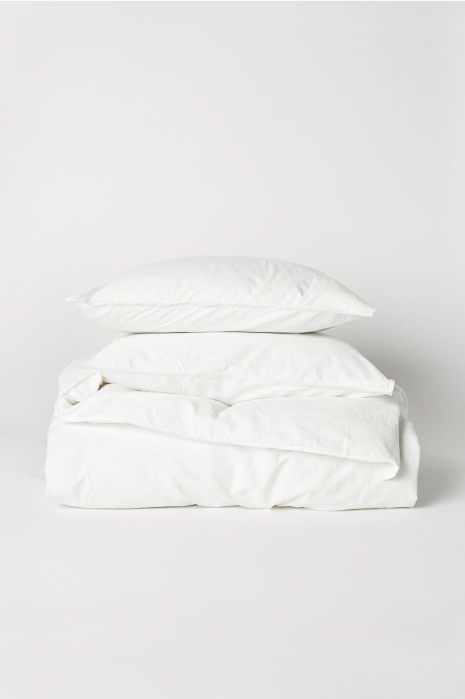 Washed Cotton Duvet Cover Set Duvet Cover Sets Duvet Bedding