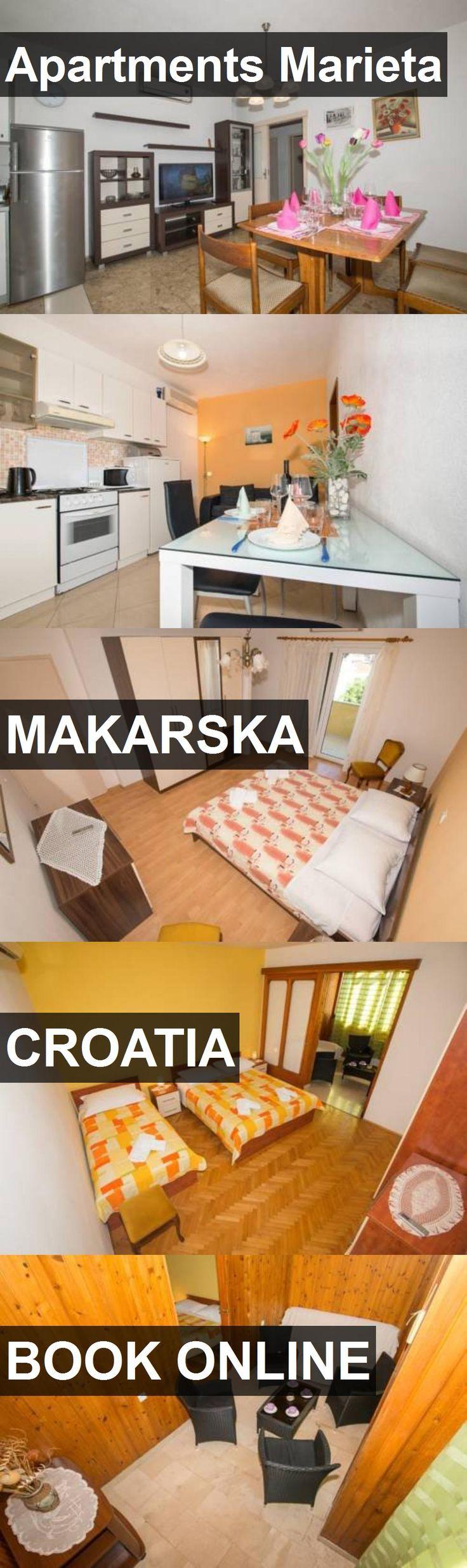 Apartments Marieta in Makarska, Croatia. For more information, photos, reviews and best prices please follow the link. #Croatia #Makarska #travel #vacation #apartment