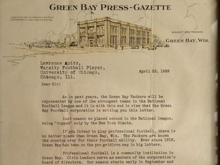 Rare find: 1928 Packers recruiting letter. #packers #nfl #vintage