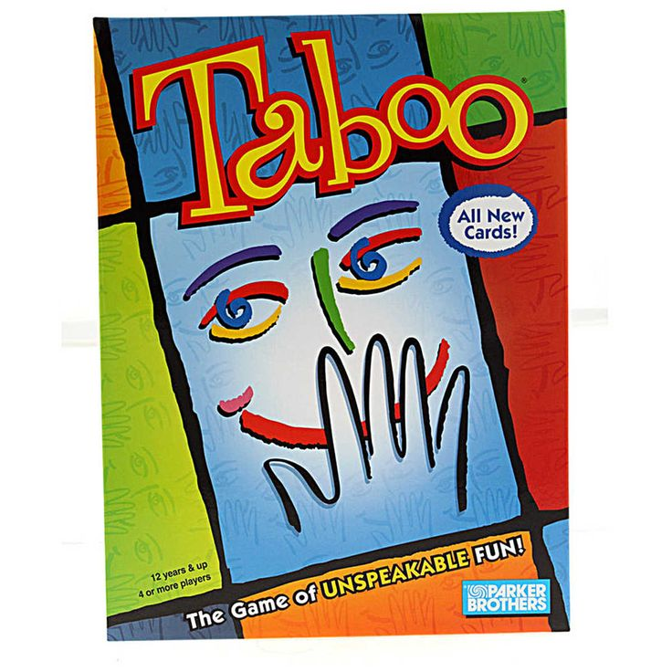 Taboo, The Game of Unspeakable Fun offers players the chance to give word clues to their team mates, trying to avoid the forbidden Taboo words. The Taboo Game features over 1000 words to guess, with 252 cards, taboo speaker and a timer.