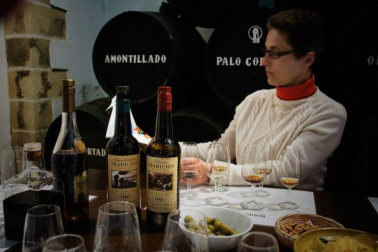 Sherrysmagning på Bodegas Tradición i Jerez de la Frontera