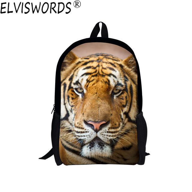 ELVISWORDS Animals Painting Boys School Bags Fashion Bookbag for Teenagers Students Travel Backpack College Stylish Laptop Bag