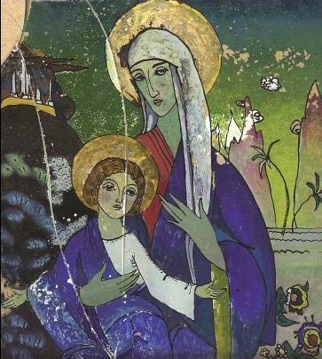 "Wassily Kandinsky - ""Madonna and Christ"", 1917"