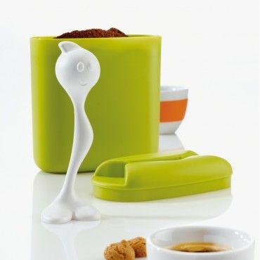 Контейнер HOT STUFF имеет встроенную ложку, которой удобно насыпать чай или кофе. Яркий дизайн от Koziol не оставит Вас без улыбки!