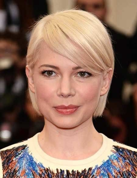 Short-Blonde-Straight-Simple-Style Beautiful Short Celebrity Hairstyles