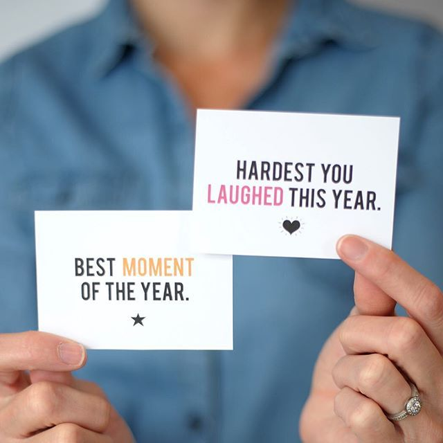 """What was your best moment of 2015? When was the hardest you laughed this year? These are just a few of the questions we have in our New Year's Game as a printable on the blog. Head on over and search """"New Years game"""" to print your copy ."""