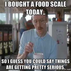 Food scale for weight loss.